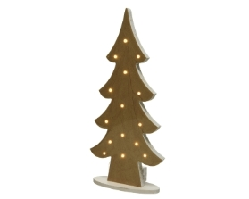 LED GOLD CHRISTMAS TREE BATTERY OPERATED 38.8CM