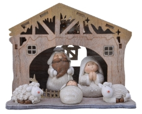 LED POLY RESIN NATIVITY BATTERY OPERATED