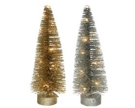 MICRO LED TREE BATTERY OPERATED 2 COLOURS 26CM
