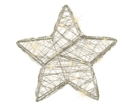 MICRO LED WIRE STAR  BATTERY OPERATED INDOOR WARM WHITE 20CM