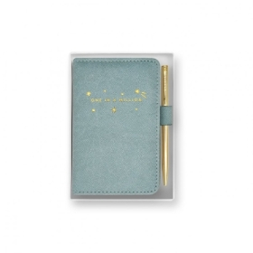 MINI NOTEBOOK AND PEN SET ONE IN A MILLION BLUE