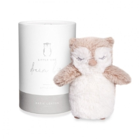 OWL BABY TOY DREAM BIG LITTLE ONE WHITE AND OATMEAL
