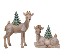 POLY BAMBI WITH TREE 2 DESIGNS