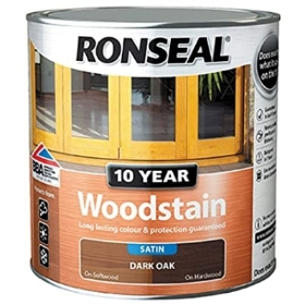 RONSEAL 10 YEAR WOOD STAIN DARK OAK 750ML