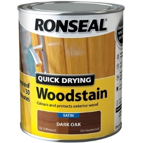 RONSEAL WOOD STAIN SATIN DARK OAK 750ML