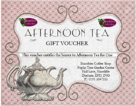 VOUCHER FOR FINE CHINA AFTERNOON TEA