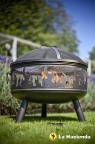 WILDFIRE STEEL FIREBOWL WITH GRILL 61CM