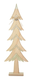 WOOD TREE WITH GOLD GLITTER 60CM