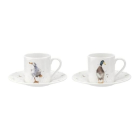 Wrendale Royal Worcester Demitasse Cup & Saucer Set