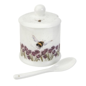 Wrendale Royal Worcester Flight of the Bumblebee' Conserve Pot and Spoon