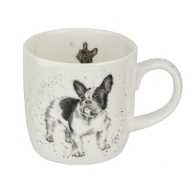 Wrendale Royal Worcester Frenchie Mug